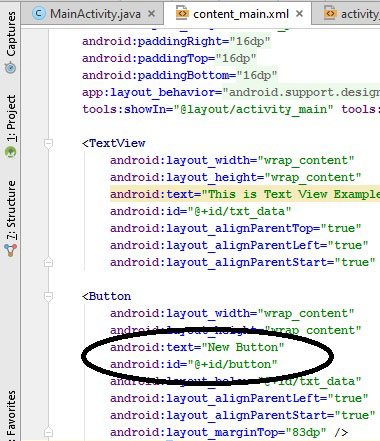 Android Button controls