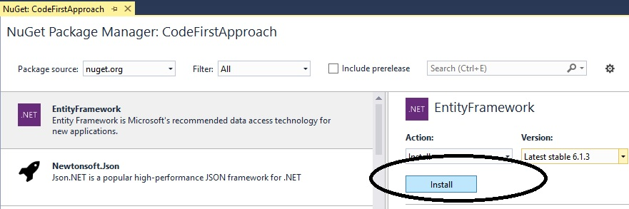 add entity framework dll