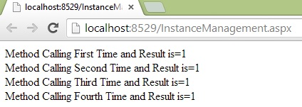 per call instance management