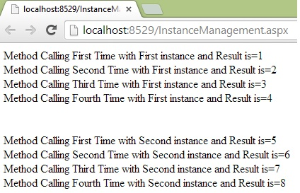 Single instance management