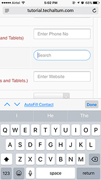 input type search ios