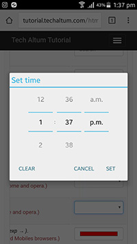 input type time android